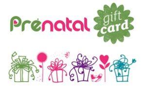 prenatal gift card
